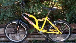 Bicicleta Tomaselli Y-1500 Rodado 20 Cuadro Amarillo