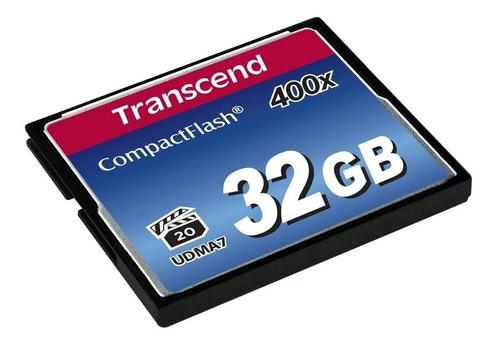 Imagem 1 de 1 de Compact Flash Cf 32gb Transcend Premium 400x Udma7 Full Hd