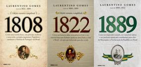 Livros 1808 1889 E 1822 - Laurentino Gomes