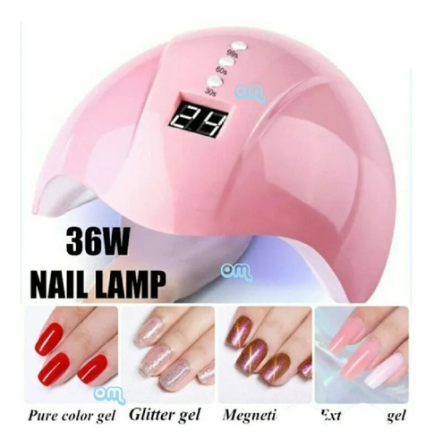 Lamparas Led/uv Para Uñas. 36watts  Manicure