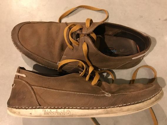 Zapatos Timberland Café Cuero Casuales