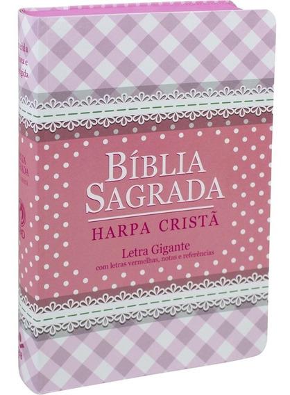 Bíblia Sagrada Com Harpa Cristã | Letra Gigante | Feminina