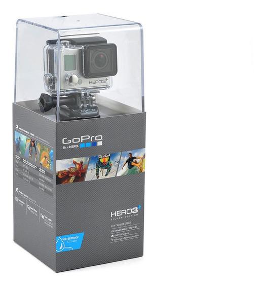 Câmera Gopro Hero 3+ Silver Ação Frete Grátis E Nota Fiscal