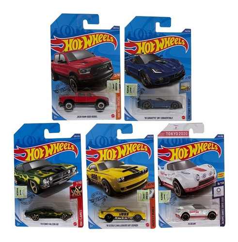 Imagen 1 de 1 de Hot Wheels Pack X5 Autos Individuales Surtidos Mattel E.f.