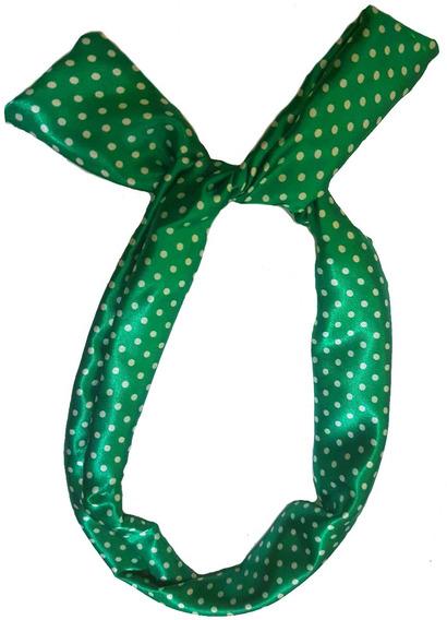 Tiara Lenço Laço De Cabelo Pin Up Vintage Retrô Verde Poá