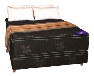 Sommier Colchon 2 Plazas Espuma Alta Densidad 35k Pillow Top