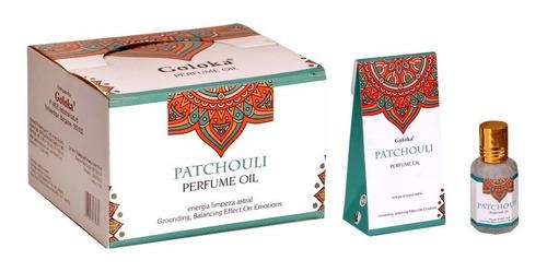 Óleo Perfumado Indiano Goloka Patchouli 10ml- Limpeza Astral