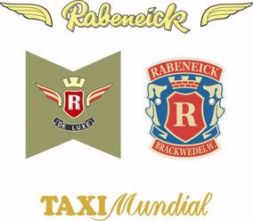 Rabeneicke Taxi Mundial - Decalques À Base D