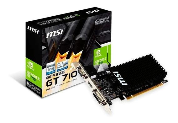 Placa Video Msi Geforce 700 Series Gt 710 Low Profile 2gb