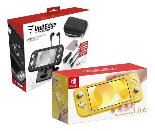 Imagen 1 de 5 de Nintendo Switch Lite 32 Gb Con 10 Accesorios Voltedge Ax40l