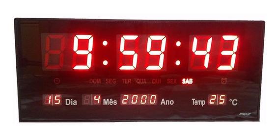 Relógio Parede Led Digital Temperatura Calendário Alarme M