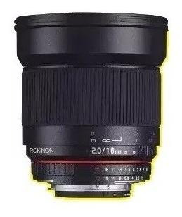 Lente Rokinon 16mm F/2 Aps-c Oem - Para Nikon