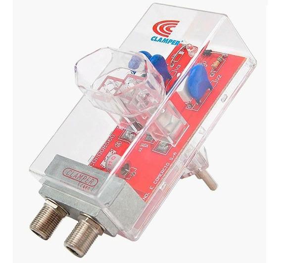 Protetor Energia + Cabo Clamper Antena Surtos E Raios