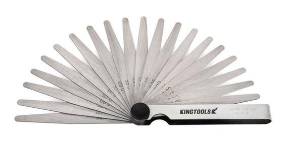 Calibre De Valvula Folga 0,05mm A 1mm - 20 Lâminas Kingtools