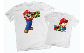Playera Papá E Hijo Mario Bros