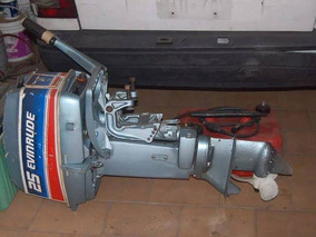 Motor Evinrude 25 Hp 2t Pata Corta Modelo 80