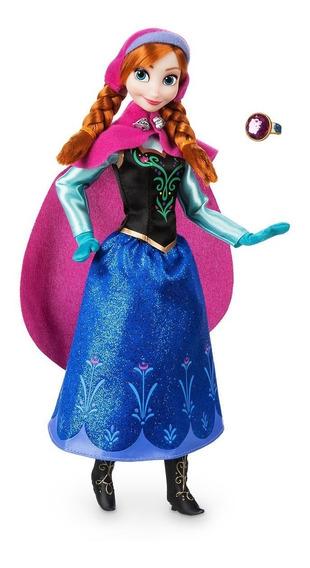 Frozen Ana Boneca Original Disney Store Articulada 30 Cm