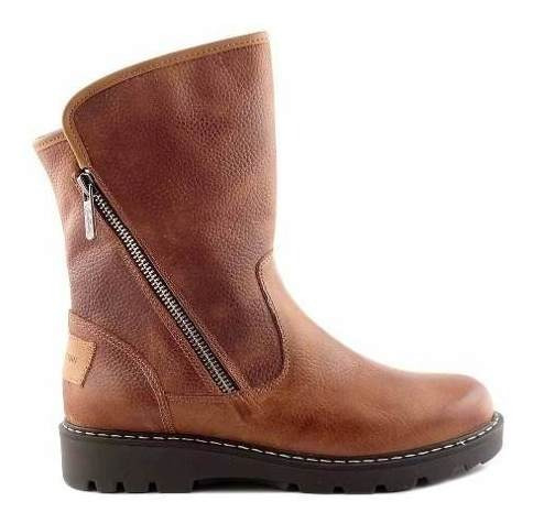 Bota Mujer Cuero Cavatini Botineta Zapato Taco Mcbo24570 Fl