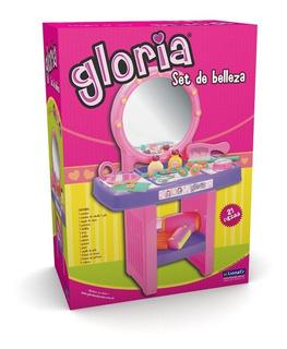 Tocador Set De Belleza Gloria Con Accesorios Juego Lionels
