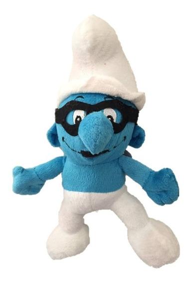 Pelúcia Os Smurfs - Smurf Mascarado 26 Cm Musical