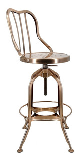Banco De Cocina Vintage Acero Bronce Robin By Promobel