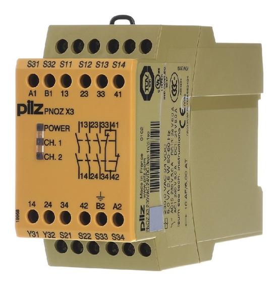 774318 Pilz Safety Relay Pnoz X3 230vac 24vdc 3n/o 1n/c 1so