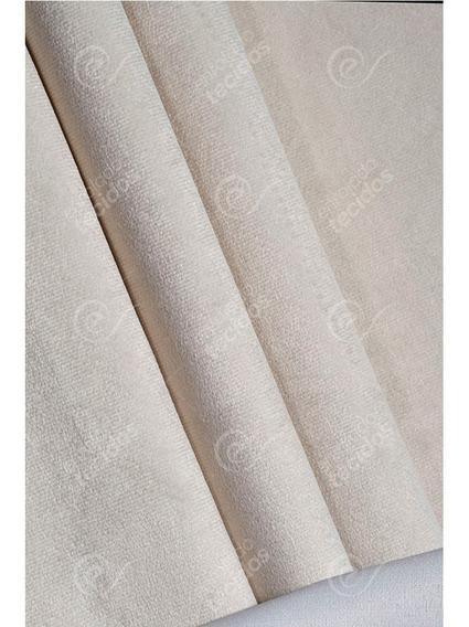 Tecido Suede Liso Bege Marfim Para Tapeçaria Sofás 1m X 1,4m