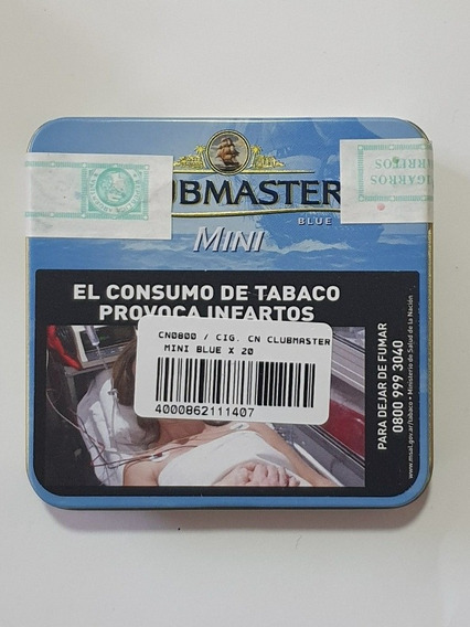 Lata Clubmaster Mini 20 Cigarritos Blue