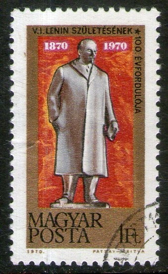 Hungría Sello Usado Centenario Del Nacimiento De Lenin 1970