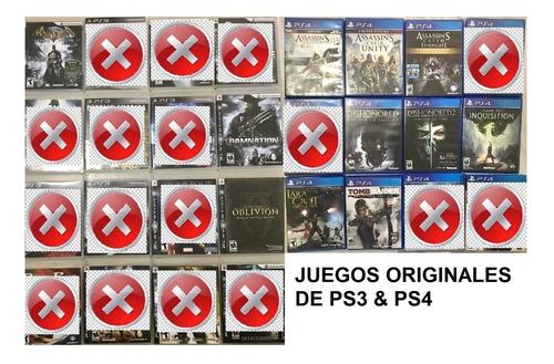 Juegos De Playstation 3 & 4 (originales)