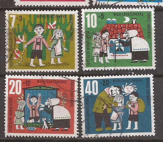 Alemania 1961 Serie Usada Hansel Y Gretel 4 Sellos - 159