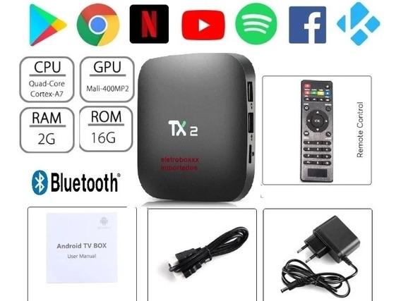 Tx2 Smart Tv Box Conversor 2gb Ram 16gb /4k Uhd + Bluetooh