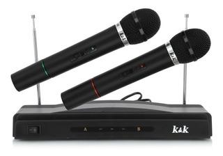 Microfono Karaoke Set Completo 2 Microfonos Profesional