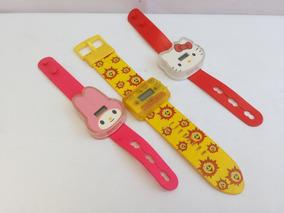 Lote 3 Relógio Pulso Infantil Hello Kitty Ri-happy Melody