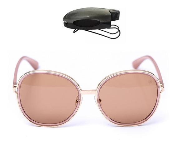 Óculos Redondo De Sol Feminino C/ Proteção Uv Frete E Brind