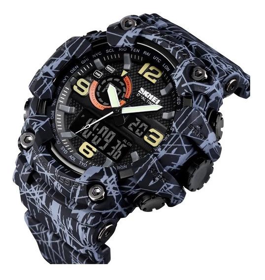 Relógio Skmei Preto Original Digital Esportivo Led Promoção