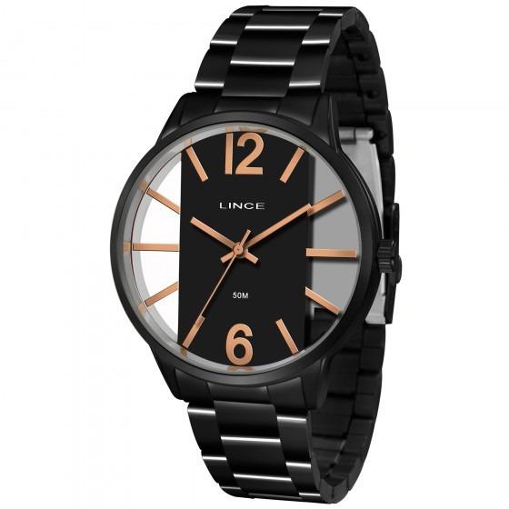 Relógio Preto Feminino Lince Lrn623l P2px - Refinado