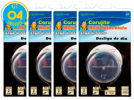 Relé Fotocélula Corujito Qr51 Qualitronix Kit 4 Un