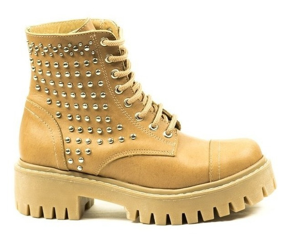Zapato Lucerna Borcego Cuero Suela Tachas