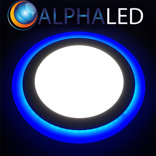 Panel Bicolor Led 18w Alphaled Redondo Embutir