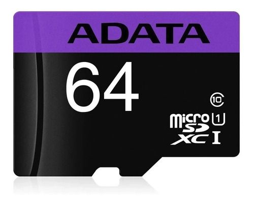 Imagen 1 de 4 de Tarjeta De Memoria Adata Original Micro Sd Clase 10 De 64 Gb