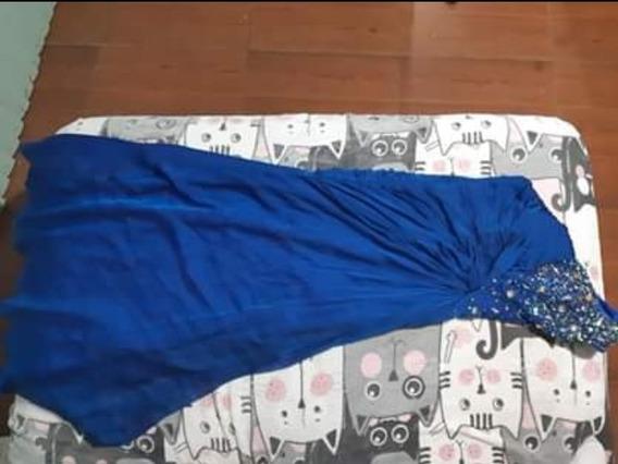 Vestido De Noche Color Azul Rey
