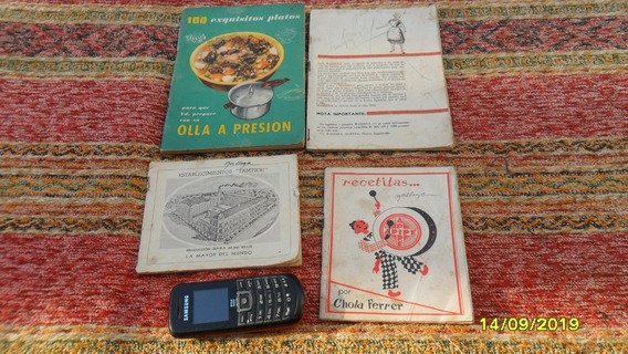 Lote De 4 Antiguos Recetarios Publicidad Yerba Apipe