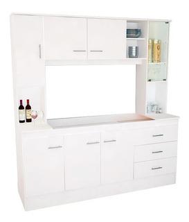 Combo Amoblamiento Cocina Completo Kit Mueble Organizador