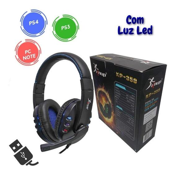 Headset Fone E Microfone Para Pc Consoles Ps4