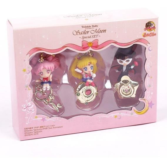 Llavero Sailor Moon, Chibi Y Tuxtedo. 5.5 Cms. Caja Incluida