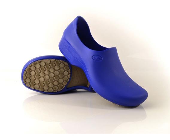 Calçado Para Cozinha Antiderrapante Stick Shoes Woman Azul B