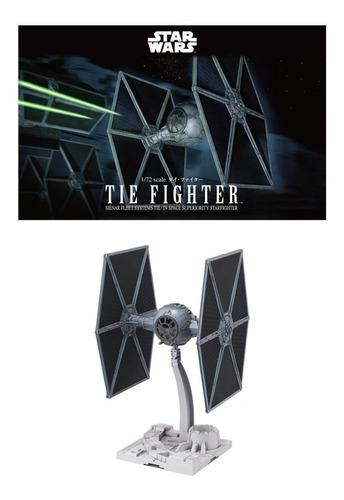 Imagen 1 de 3 de 1/72 Tie Fighter Star Wars Bandai Model Kit