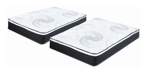 Imagen 1 de 6 de Pack De Colchones Mat + Ind Clowd Bio Spring Comfort Air