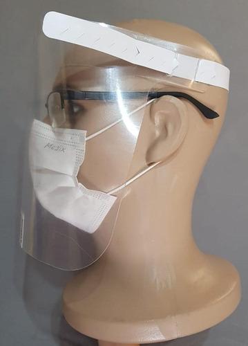 Imagem 1 de 5 de Kit Com 10 Máscara De Proteção Facial Face Shield